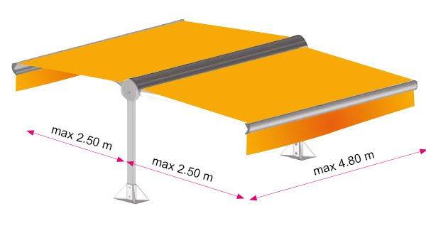 store banne avec pieds pas cher store banne avec pieds sur mesure. Black Bedroom Furniture Sets. Home Design Ideas