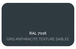 Gris Anthracite 7016 Finition Structuré Sablé (Cossu, Robuste et Résistant aux Micro Rayures)
