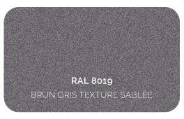 Brun Gris 8019 Finition Structuré Sablé (Cossu, Robuste et Résistant aux Micro Rayures)