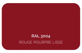 Rouge pourpre 3004 Thermolaquage Label Qualicoat, Qualimarine