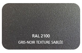Noir 2100 Finition Structuré Sablé Thermolaquage Label Qualicoat, Qualimarine