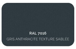 Gris Anthracite 7016 Finition Structuré Sablé