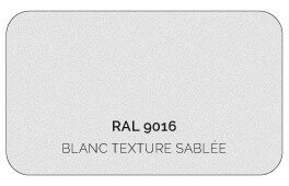 Blanc 9016 Finition Structuré Sablé