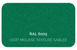 Vert Mousse 6005 Finition Structuré Sablé