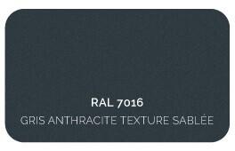 Gris Anthracite 7016 (Structure + Lames), Finition Structuré Sablé (Cossu, Robuste et Résistant aux Micro Rayures)